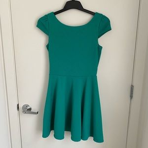 Emerald Green Fit & Flare Dress!